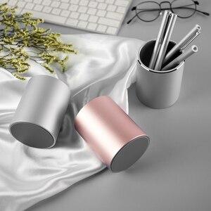 Image 5 - قلم رصاص معدني و حامل قلم Vaydeer جولة الألومنيوم منظم سطح المكتب و كوب صندوق تخزين