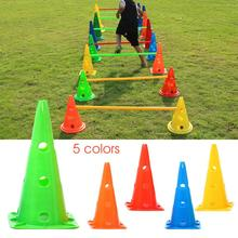 40CM Barrier Bucket Soccer Basketball Training Equipment With Hole Cup Anti-freezing Anti-cracking Durable Road Pile