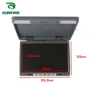 15.4'' Car Roof Monitor LCD Flip Down Screen Overhead Multimedia Video Ceiling Roof mount Display Build in IR/FM Transmitter USB