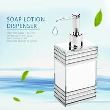 цена на 250ml Lotion Liquid Soap Pump Dispenser Durable Glass Soap Sanitizer Container Bottle Bathroom household soap hand sanitizer