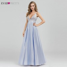Sparkle Prom Dresses Ever Pretty Sequined Sexy Deep V-Neck Backless Sleeveless EP07899BL Vestidos Largos De Fiesta