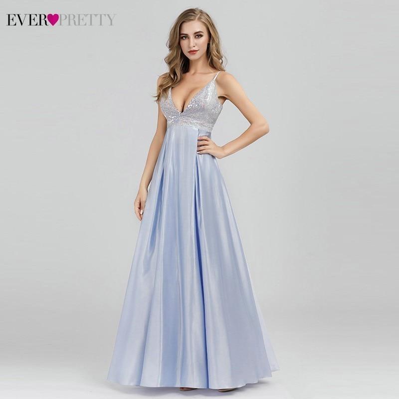 Sparkle   Prom     Dresses   Ever Pretty Sequined Sexy Deep V-Neck Backless Sleeveless   Prom     Dresses   EP07899BL Vestidos Largos De Fiesta