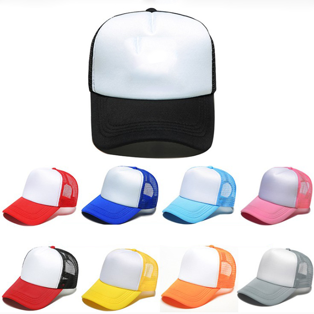 1pc Unisex Advertising   cap   Fashionable Customized Sponge   Baseball     Cap   with Net