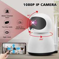 HD 1080P Security IP Camera Video Surveillance Cameras Two Way Audio Wireless Wifi Baby Monitor Night Vision Motion Detection