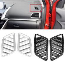 Новый 2 шт. Автомобильный интерьер верхний Вентиляционный Выход Крышка Накладка для Mitsubishi Eclipse Cross 2018-2017 серебро/карбоновое волокно