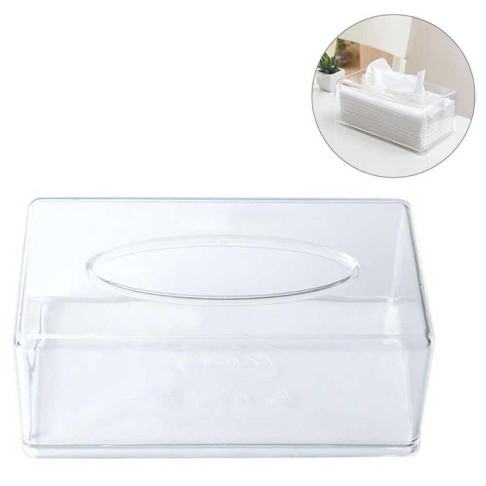 Jaringan Dispenser Kotak Cover Pemegang Bening Akrilik Persegi Serbet Organizer untuk Kamar Mandi Dapur Kantor Kamar 22*12*9 CM