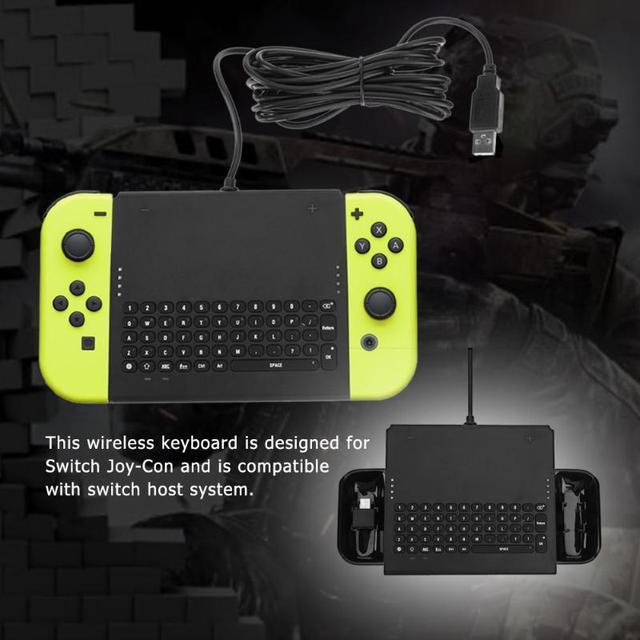 On-Line Chatting Keyboard Kabel Ergonomis Abs Keyboard untuk Switch Joy-Con