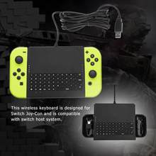 On-Line Chatting Keyboard Kabel Ergonomis Abs Keyboard untuk Switch Joy-Con(China)