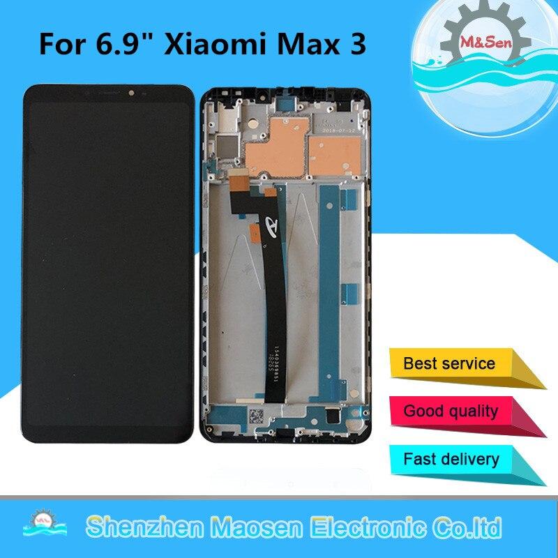 M Sen Frame For 6 9 Xiaomi Max 3 MI Max 3 Max3 LCD Screen Display