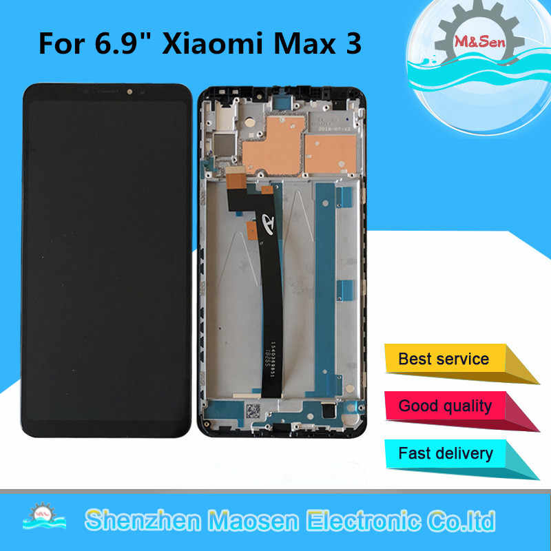 "M&Sen Frame For 6.9"" Xiaomi Max 3 MI Max 3 Max3 LCD Screen Display Touch Panel Digitizer For Xiaomi Mi Max 3 Lcd Display"