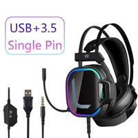 Mew Computer Headset 7.1 Gaming Headset For PS4 XBOX ONE PC Headphone RGP Streamer Computer Headphone With Microphone