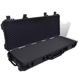 VidaXL пластиковый Литой чехол для пистолета с 3 ручками и 2 колесами, чехол для переноски охотничьих винтовок, пистолетов, переносчиков, коробк...
