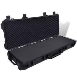 Vidaxl Plastic Gegoten Gun Case 3 Handgrepen En 2 Wielen Trolly Draagtas Jacht Geweren Pistolen Guns Transporter Opbergdoos