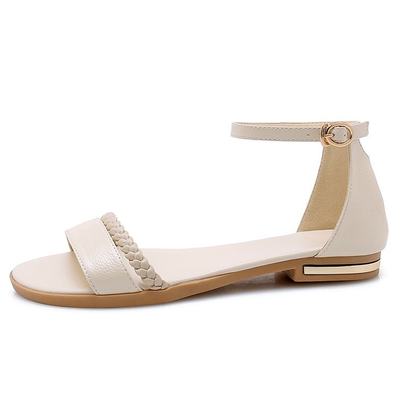 Image 4 - YOUGOLUN Women Flat Sandals New Arrived Ladies Summer Casual Shoes Sexy Woman White Black Beige Ankle Buckle Strap Sandal A032-in Women's Sandals from Shoes