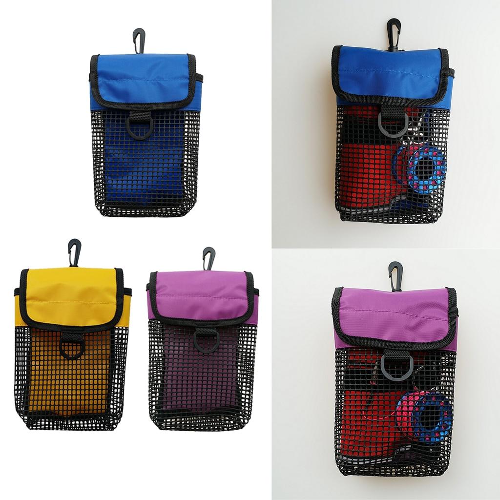 23 X 13 X 5 Cm PVC+ Mesh+Nylon Scuba Diving Reel & SMB Safety Marker Buoy Gear Storage Mesh Gear Bag With D Ring