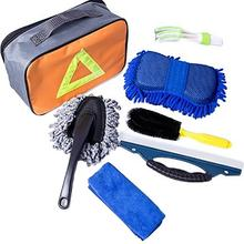 7 sztuk narzędzie do mycia samochodu produkty czyszczące samochodu zestaw do mycia samochodu czyszczenie samochodu z torbą na prezent zestaw narzędzi do pielęgnacji czyszczenia tanie tanio Goxfaca Brak Myjni samochodowej LE00746 600g Car Convenient Wash Tool Kit Support