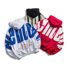 Mens Sweatshirt 2019 Spring New Loose Letter Hooded Sleeve Embroidery Youth Casual Hot Sale