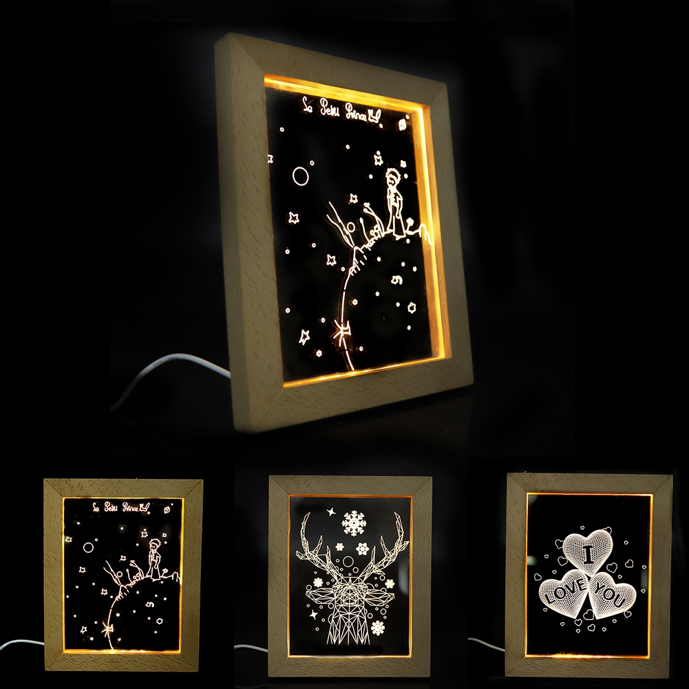 Bedroom USB LED Photo Frame Night Light Decorative Table Lamp Gift Home Decor Motion Sensor Night Light