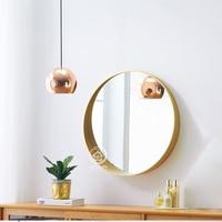 Круглое настенное зеркало стеклянная консоль для макияжа туалетное зеркало настенное декоративное зеркальное искусство зеркало для ванно