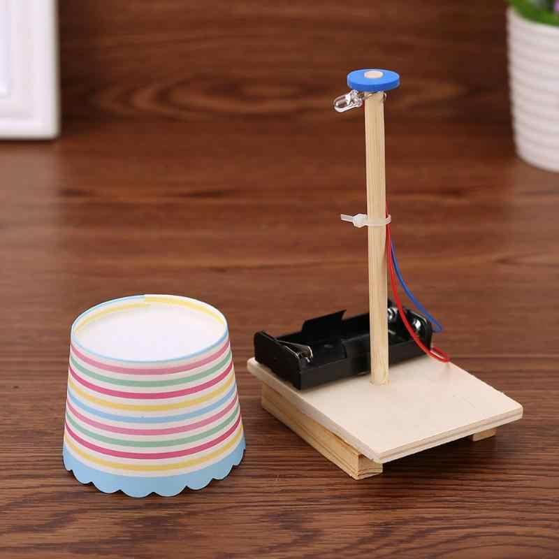 Lampy LED bloki zabawki papier do majsterkowania puchar lampa zabawka bez przełącznik z tworzywa sztucznego ręcznie robione dla dzieci uczeń nauki eksperyment edukacyjne prezenty