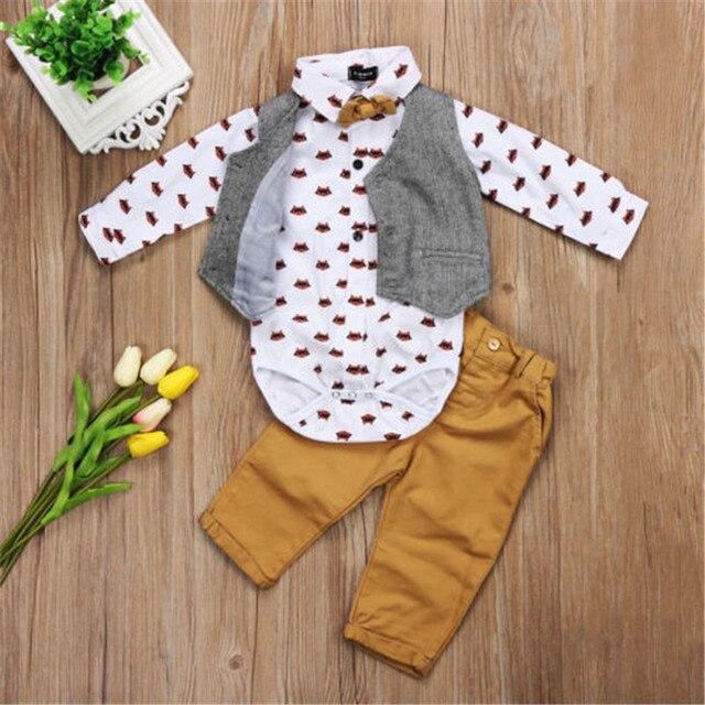CANIS-costume de soirée pour enfants | Chemise à hauts, gilet et pantalon, costume de costume décontracté, ensemble de vêtements pour garçons