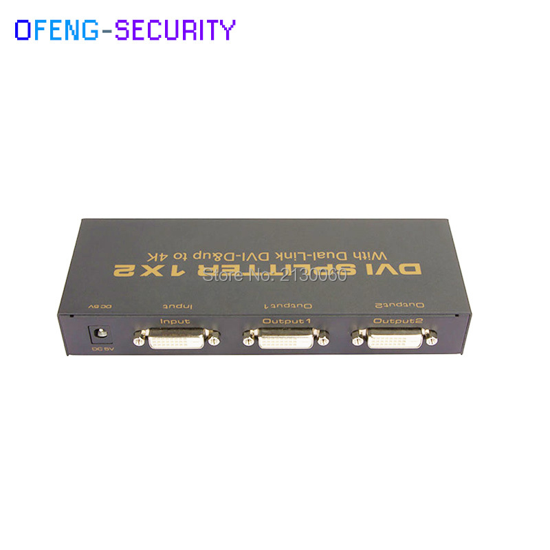 DVI SPLITTER 1x2 Dual link DVI-D 4 พัน 2 พัน 1 อินพุต 2 เอาต์พุตรองรับ 1920x1080 ความละเอียด