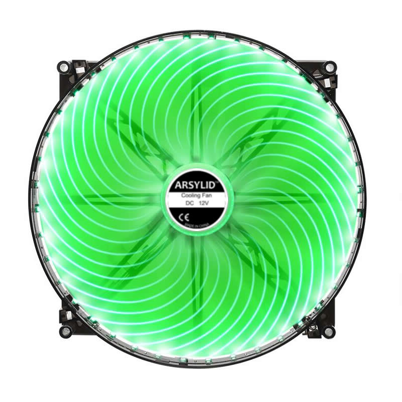 20mm thickness fan Red Blue Green Color 200mm 20cm fan silent for computer Case 20020 fan thin 2cm 40 LED Cooling Fan