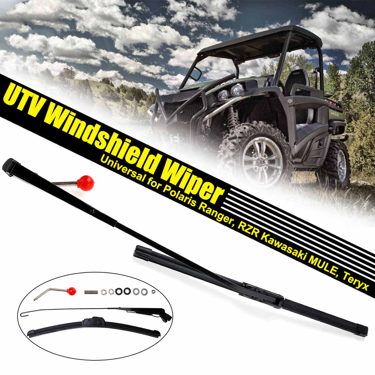 Excellent Universal Utv Windshield Wiper Manual Wiper For Polaris Pdpeps Interior Chair Design Pdpepsorg