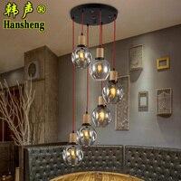 Nordic Modern Minimalist Restaurant Cafe Pendant Light Loft Lamps Art Bar Personalized Glass Bubble Hanging Lighting