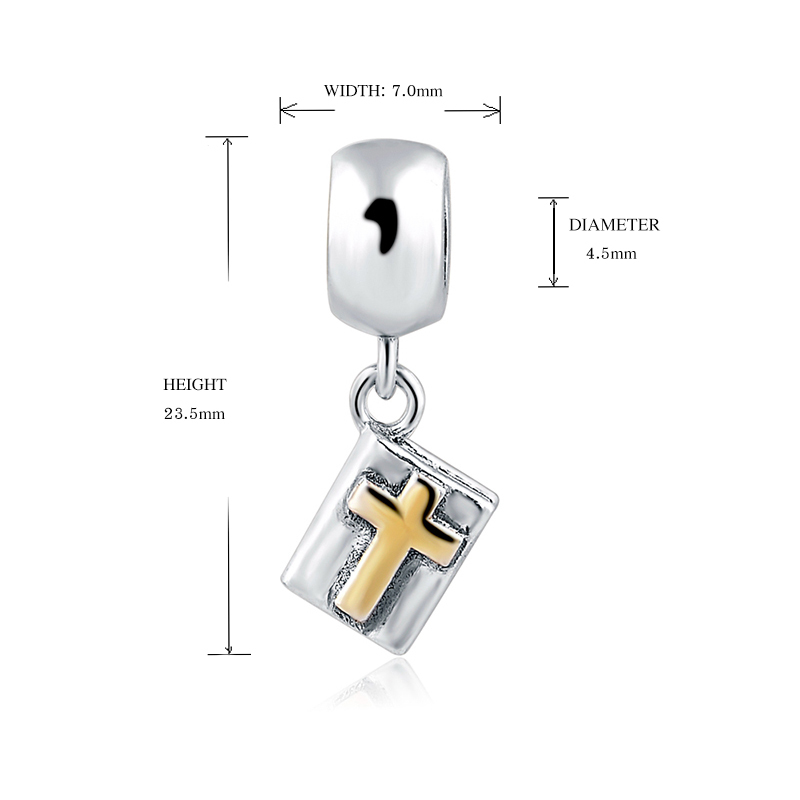 silver 925 jewelry Vintage Jesus God Cross Beads Fit Pandora charms Bracelet Antique Beads Pendant Fashion Jewelry gift supply in Beads from Jewelry Accessories