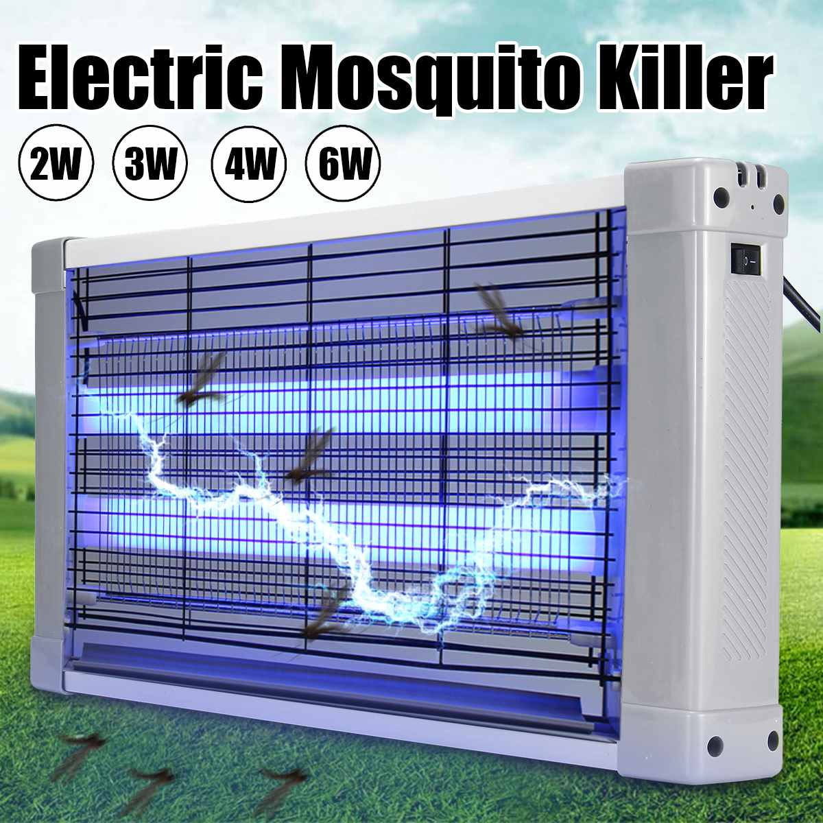 2/3/4/6W LED Electric Mosquito Fly Bug Insect Killer Zapper Trap Catcher Lamp 220V US AU Plug Night Light Garden Anti Mosquito