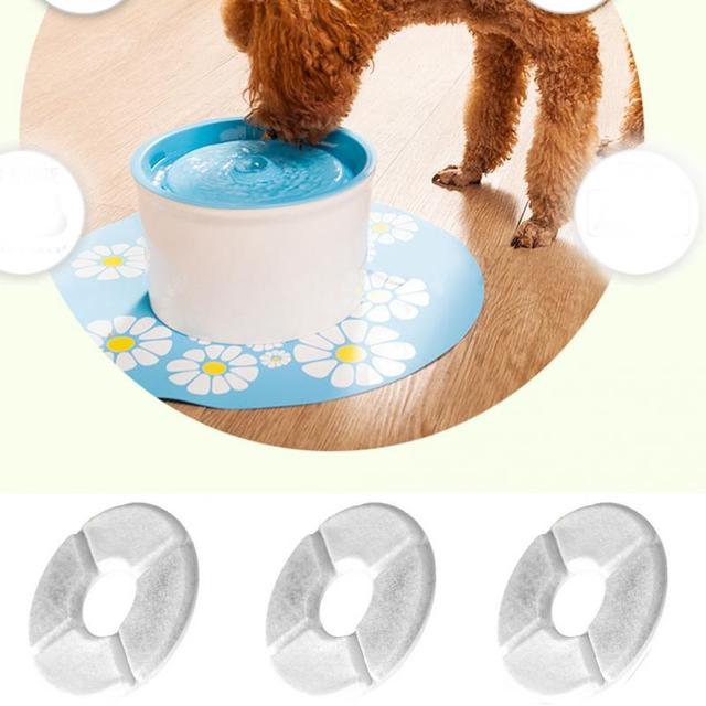 4 pcs/lot Activated Carbon Pet Water Drinking Fountain Filter For 1.8L LED Automatic Cat Dog Kitten Bowl Drink Dish Filter 026 1