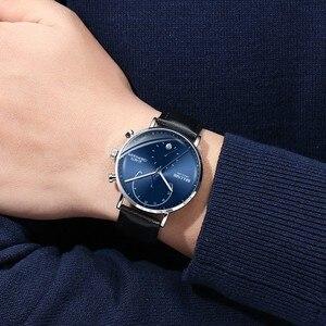 Image 4 - นาฬิกาผู้ชาย2020โมเดิร์นหนังผู้ชายนาฬิกาข้อมือควอตซ์Casual Businessนาฬิกาข้อมือบุรุษแบรนด์Belushiนาฬิกา