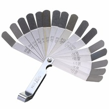 1pc 16 Blade High Strength Metric Measurement 0.127-0.508 mm Valve Offset Feeler Gauge Measure Tool