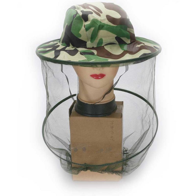 Beekeeping Hat Net Mesh Head Face Protector Cap Insect Bee Mosquito Resistance Sun Fish Hat 32cm X 25cm Home & Garden