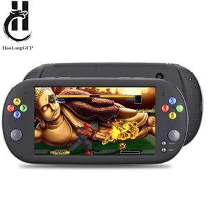 Image 1 - HaoLongGCP neogeo 8/16/32 비트 게임용 ps1 용 핸드 헬드 7 인치 레트로 비디오 게임 콘솔 1500 무료 게임으로 8GB TV 출력 지원