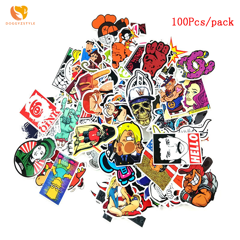 100 Pcs/pack Classic Stil Diy Graffiti Aufkleber Für Moto Auto & Koffer Coole Laptop Aufkleber Skateboard Aufkleber