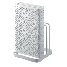 Hollow Multifunctional Storage Rack Knife Tool Holder Stand Organizer for Kitchen Accessories - White