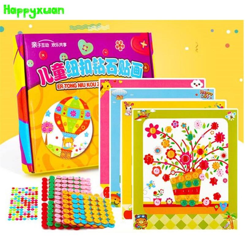 HAPPYXUAN DIY Button Art Craft presentförpackning Barnsäng - Lärande och utbildning