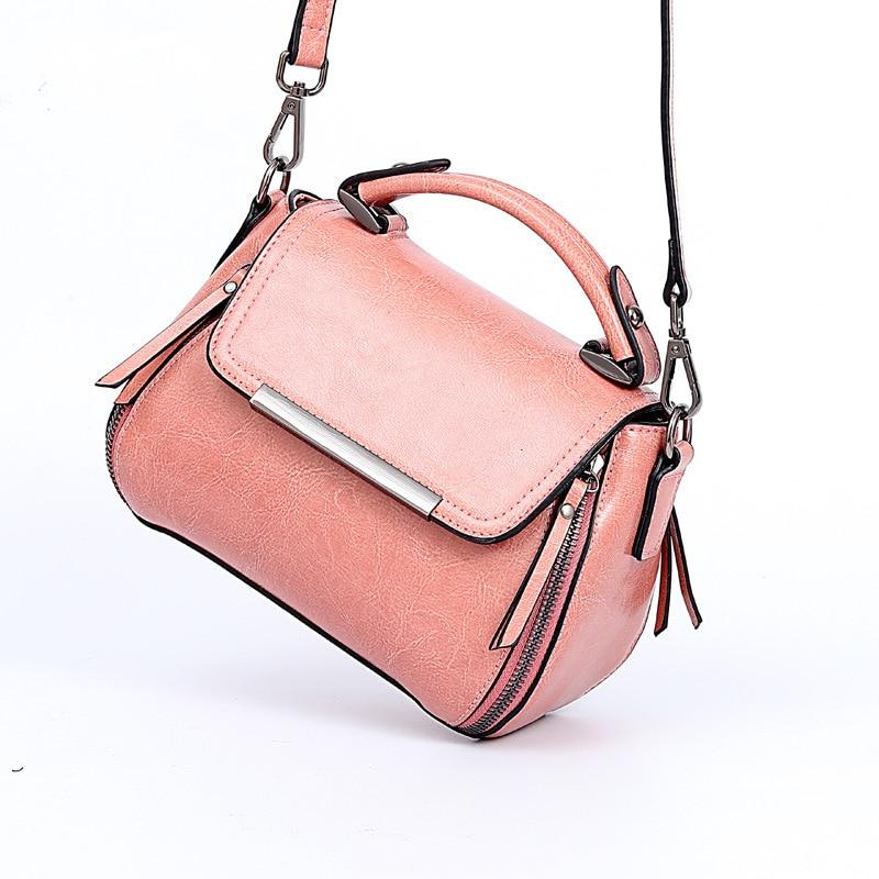Fashion Luxury Handbags Women Oil Wax Tote Ma'am Genuine Leather Handbag Small Bag Single Shoulder Crossbody Bags For Designer