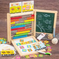 Kids Number Arithmetic Abacus Building Blocks Learning Educational Math Toy Graffiti board math toy