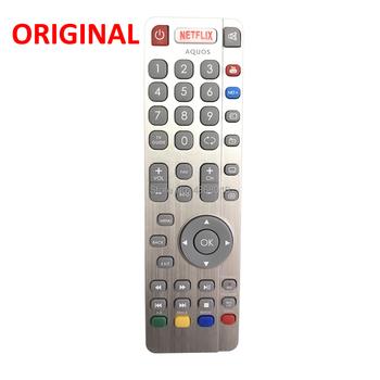 Oryginalny oryginalny pilot RF dla SHARP SHW RMC Aquos RF Smart TV z Netflix Youtube telewizor LED przyciski Controle Fernbedienung tanie i dobre opinie Uniwersalny CN (pochodzenie) 433 mhz RFAQUOS RF Smart Netflix Youtube LED TV s New 100 Original SHW RMC 0117N 32 122I-GB-5B-HBKU-UK 32 131J-GB-1B-3HCU-UK 32 152-GB-3B-GKU 32 152