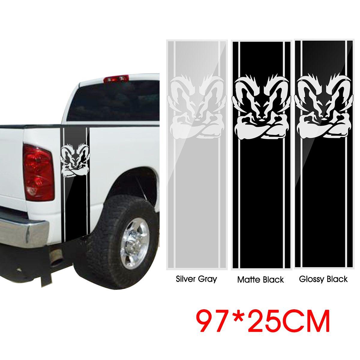 97*25cm corpo do carro vinil decalque adesivo tiras emblema bandagem para (2 pçs) dodge ram 1500 5.7 l