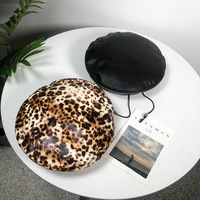 76b05026b8c84 Korean Autumn And Winter 2018 Newest Women Hat Female Adjustable Beret  Fashion Leopard Print PU Leather