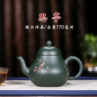 Ore Manual Mud Painting The Republic Of China Green Nisiting National Workers Competitive Products Teapot Send Gifts Top Grade