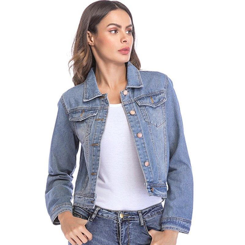 Casual Broken Holes Denim Short   Jacket   Coat Women 2018 Autumn Feminina Jeans Coats Girls   Basic     jackets   for women Plus Size O8R2