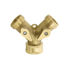 Garden Water Connectors PALISAD 66523 Splitter Brass Threaded Tap Connectors