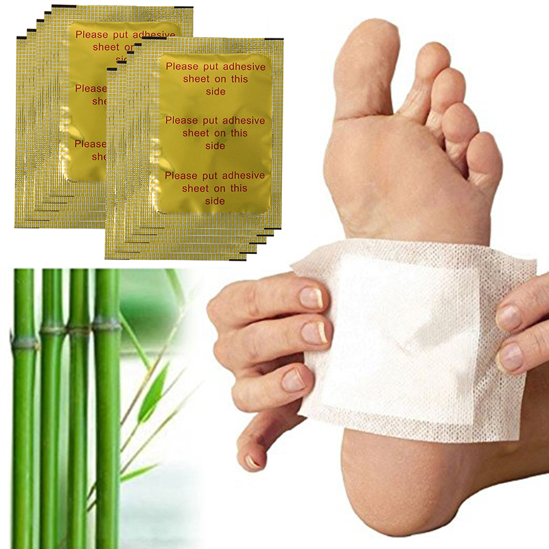 10 Pcs Detox Foot Patch Pad Ginger Salt Extract Toxin Removal Weight Loss Patch Improve Sleep Slimming Foot Sticker TSLM2