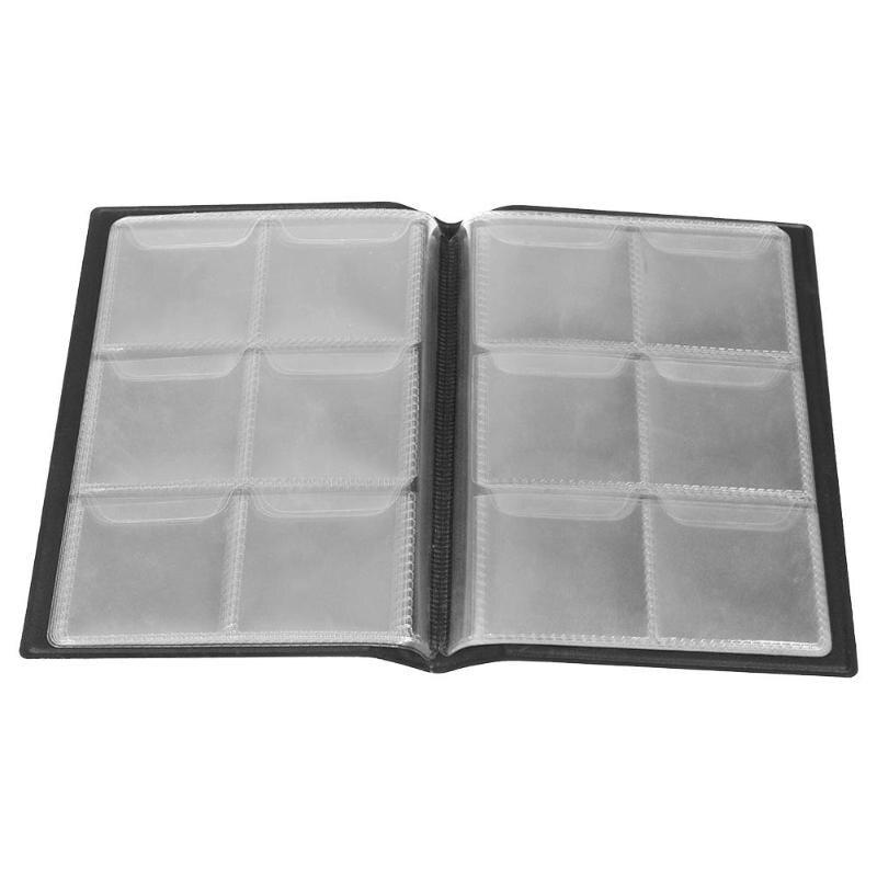 10 Seiten 60 Taschen Album Silber Dollar Gedenkmünzen Sammlung Buch Geld Penny Sammeln Lagerung Organizer Album