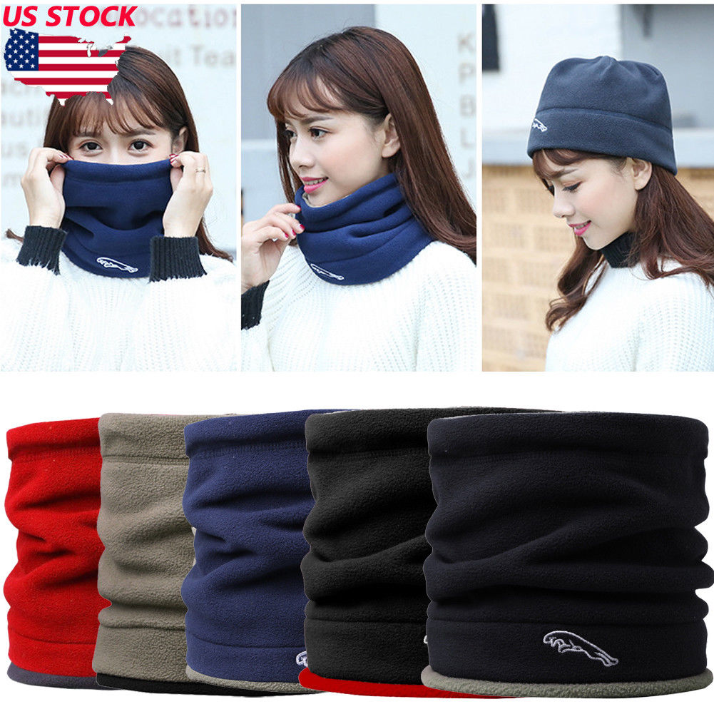 Imported From Abroad Fall Winter Womens Trendy Multifunction Fleece Neck Warmer Thermal Snood Hat Ski Wear Scarf Beanie Balaclava Scarves Wraps Ring For Fast Shipping